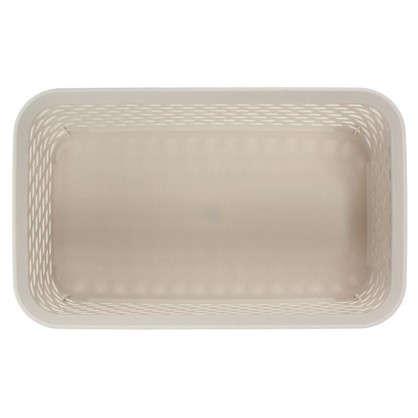 Корзина для хранения Ротанг 2.2 л 24х15х10 см цвет белый