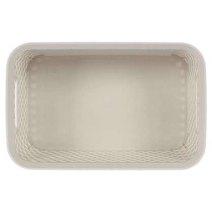 Корзина для хранения Ротанг 4 л 28х18.5х12.6 см цвет белый