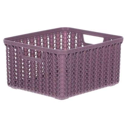 Купить Корзина для хранения Вязание 1.5 л цвет пурпурный дешевле