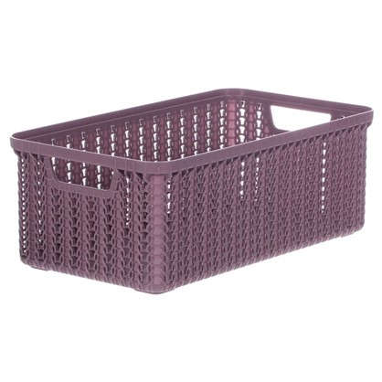 Купить Корзина для хранения Вязание 3 л цвет пурпурный дешевле