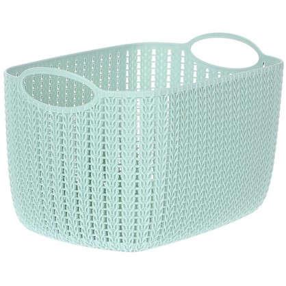 Корзина для хранения Вязание 7 л цвет фисташковый