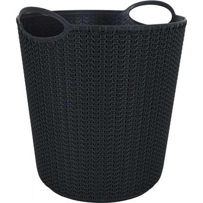 Корзина для мусора Вязание 260х290х260 мм 10 л цвет графит