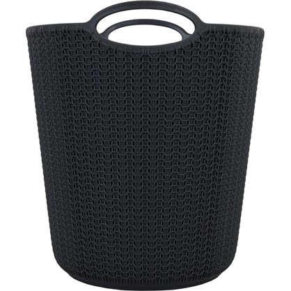 Купить Корзина для мусора Вязание 260х290х260 мм 10 л цвет графит дешевле