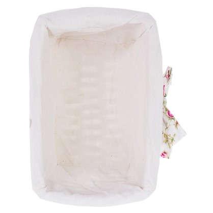 Корзина Ива с декоративным чехлом 25x14x17 см плетенье цвет белый