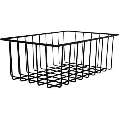 Купить Корзина-органайзер для ящика 25х16х9 см цвет чёрный дешевле