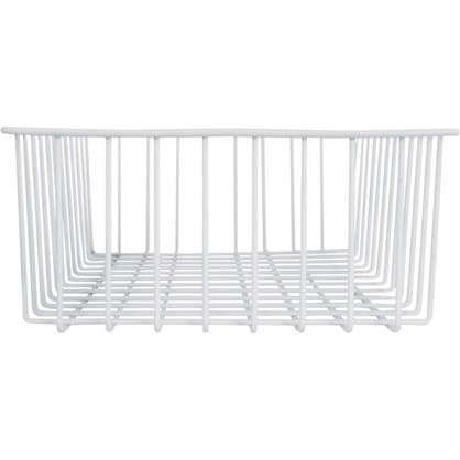 Корзина-органайзер для ящика 33х25х9 см цвет белый