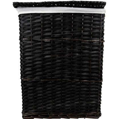 Купить Корзина плетеная с крышкой L цвет коричневый дешевле