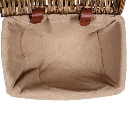 Купить Корзина с крышкой Орех S 180х200х300 мм 10.8 л цвет коричневый дешевле