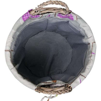 Корзина с ручками Сердце M 300х320х300 мм 28 л цвет серый/фиолетовый