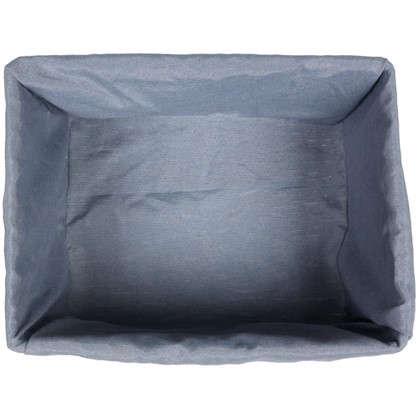 Купить Корзина стеллажная Бантик L 360х170х270 мм 16 л цвет серый дешевле