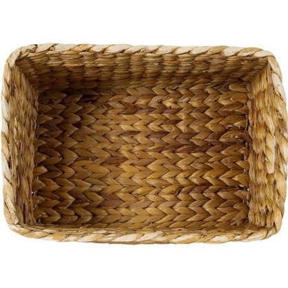Купить Корзина стеллажная Золотое Плетение S 390х280х210 мм 22 л цвет бежевый дешевле