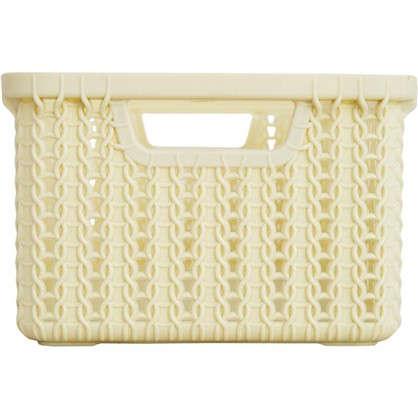 Корзинка для хранения Вязание 3 л цвет слоновая кость