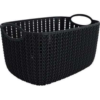 Корзинка для хранения Вязание 4 л цвет графит