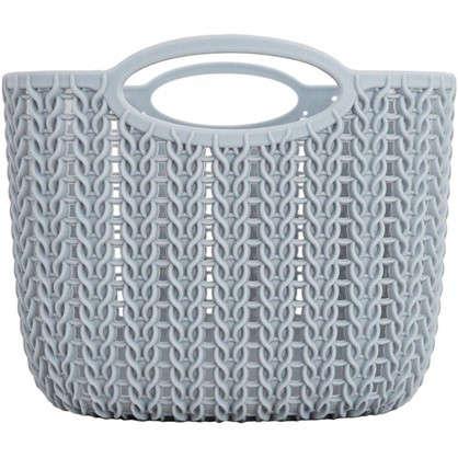 Корзинка для хранения Вязание 4 л цвет серый