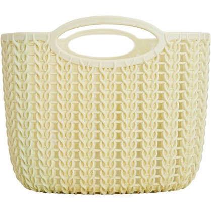 Корзинка для хранения Вязание 4 л слоновая кость