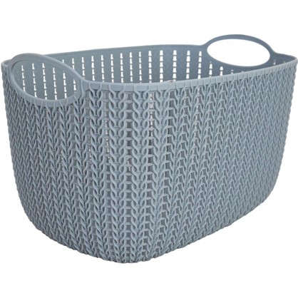 Корзинка для хранения Вязание 7 л цвет серый