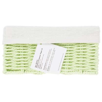 Купить Корзинка плетеная 10х20х20 см цвет белый/мята/коричневый/красный дешевле