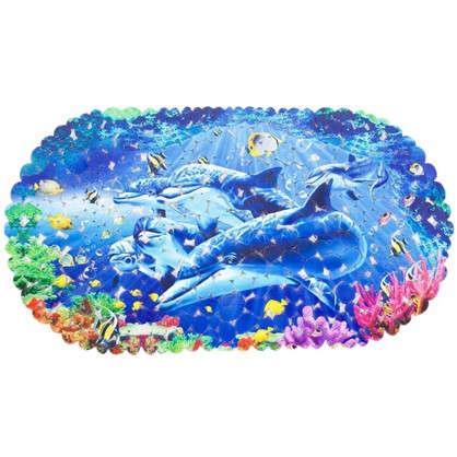 Купить Коврик антискользящий для ванной комнаты 69х39 цвет в ассортименте дешевле