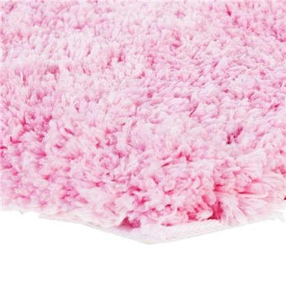 Купить Коврик для туалета 55х55 см цвет розовый дешевле