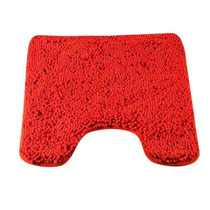 Купить Коврик для туалета Cingolo 50x60 см полиэстер цвет алый дешевле