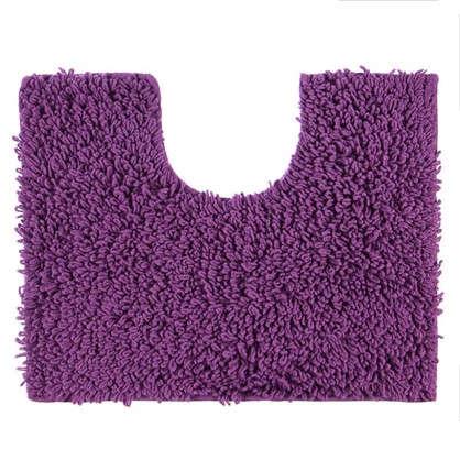 Коврик для туалета Crazy 50x40 см цвет фиолетовый