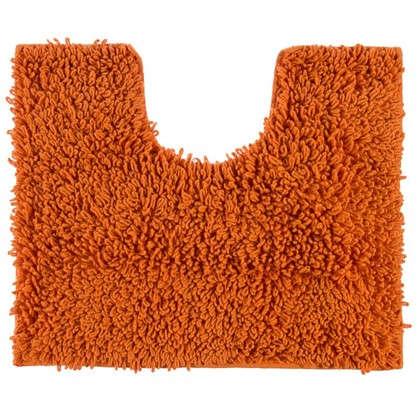 Коврик для туалета Crazy 50x40 см цвет оранжевый