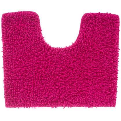 Коврик для туалета Crazy 50x40 см цвет розовый