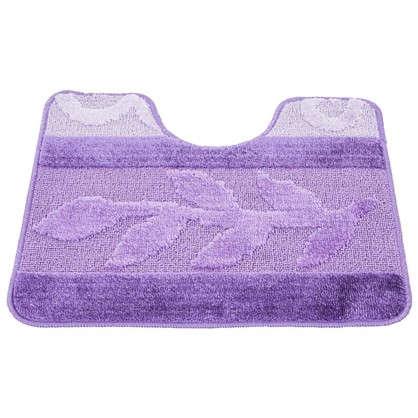 Коврик для туалета Hurrem 50х60 см полипропилен цвет лиловый