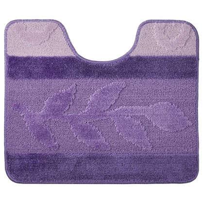 Купить Коврик для туалета Hurrem 50х60 см полипропилен цвет лиловый дешевле