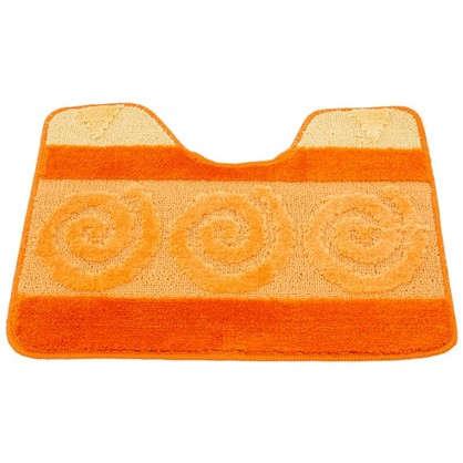 Купить Коврик для туалета Hurrem 50х60 см полипропилен цвет оранжевый дешевле