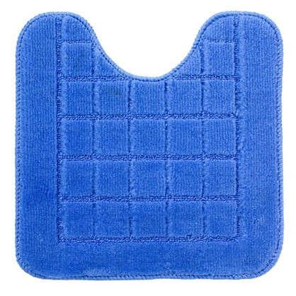 Коврик для туалета Квадро 40х40 полипропилен цвет синий
