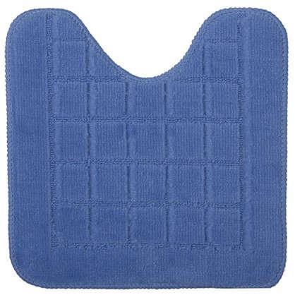 Купить Коврик для туалета Квадро 40х40 полипропилен цвет синий дешевле