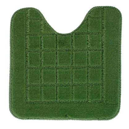 Купить Коврик для туалета Квадро 40х40 полипропилен цвет зелёный дешевле