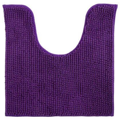 Купить Коврик для туалета Merci 45х45 полиэстер цвет фиолетовый дешевле