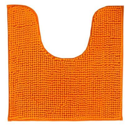 Коврик для туалета Merci 45х45 полиэстер цвет оранжевый
