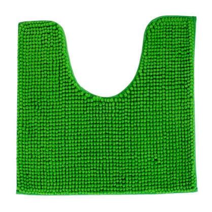 Коврик для туалета Merci 45х45 полиэстер цвет зелёный