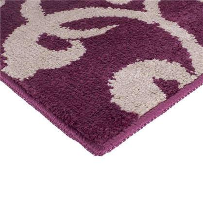 Купить Коврик для туалета Mr Penguin Узоры 40х50 см микрофибра цвет бордо дешевле