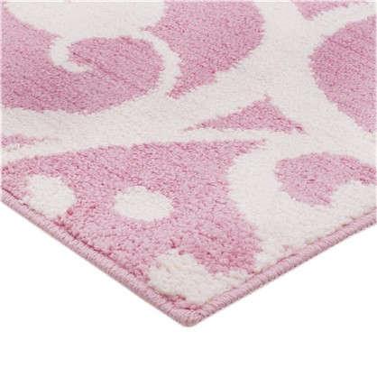 Коврик для туалета Mr Penguin Узоры 40х50 см микрофибра цвет розовый