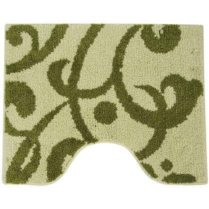 Купить Коврик для туалета Mr Penguin Узоры 40х50 см микрофибра цвет зелёный дешевле