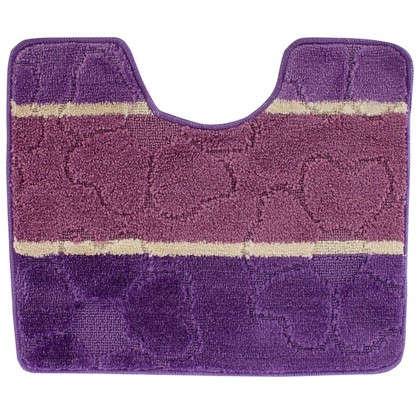 Купить Коврик для туалета Multi 50х60 см цвет фиолетовый дешевле