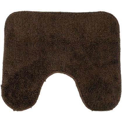 Коврик для туалета Sensea Lounge 50х40 см микрофибра цвет коричневый