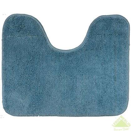 Коврик для туалета Sensea Lounge №6 50х40 см микрофибра цвет синий