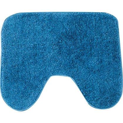 Коврик для туалета Sensea Lounge из микрофибры №1 50х40 см цвет синиий