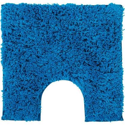 Купить Коврик для туалета Sensea Twist 55х55 см микрофибра цвет синий дешевле