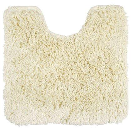 Коврик для туалета Shaggy 45х55х55 см цвет белый