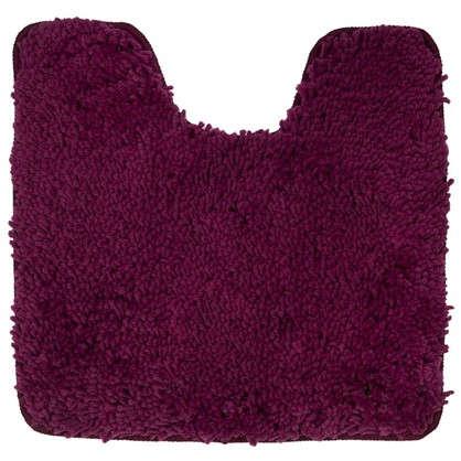 Коврик для туалета Shaggy 55х55 см цвет бордовый