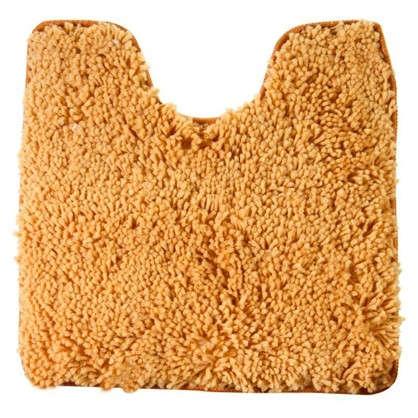 Купить Коврик для туалета Shaggy 55х55 см цвет оранжевый дешевле