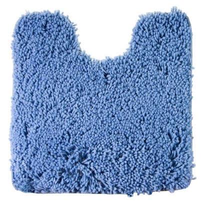 Купить Коврик для туалета Shaggy 55х55 см цвет синий дешевле