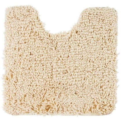 Купить Коврик для туалета Shaggy 55х55см см цвет бежевый дешевле