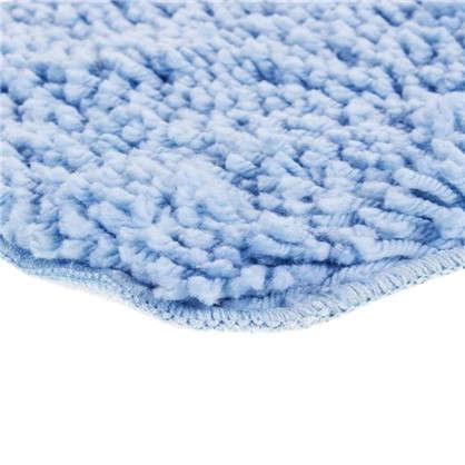 Купить Коврик для туалета Shaggy 55х55см см цвет голубой дешевле
